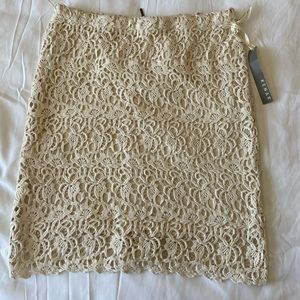 NWT Kenar ivory lace design pencil skirt size 8
